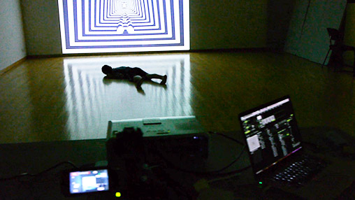 Projection-mapped ripple dance setup 1